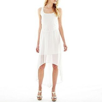 JCPenney High-Low Chiffon Cage-Back Dress