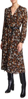 MICHAEL Michael Kors Floral-Print Midi Shirtdress