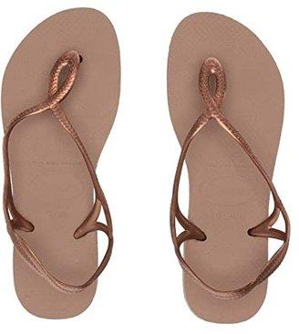 Havaianas Luna Flip Flops (Rose Gold/Rose Gold) Women's Sandals