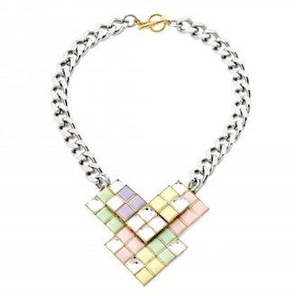 Anton Heunis Triple Square Crystal Cluster Necklace