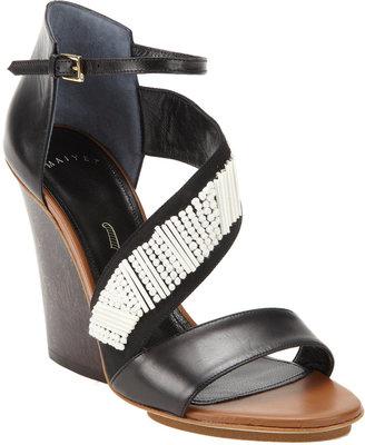 Maiyet Embellished Strappy Wedge Sandal