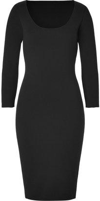 Ralph Lauren Black Merino Scoop Neck Dress