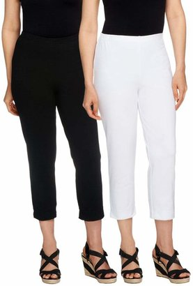 70fa81d4e9f4d Women With Control Women with Control Petite Set of 2 Straight Leg Knit Crop  Pants