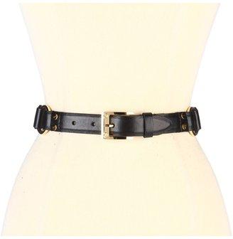 Rachel Zoe Multi D Ring Belt (Black) - Apparel