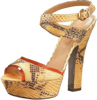 Sergio Rossi Python Platform Sandal