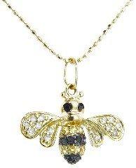 Sydney Evan Bumblebee Charm on Chain - Yellow Gold