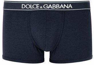 Dolce & Gabbana Navy Stretch Cotton Boxer Briefs