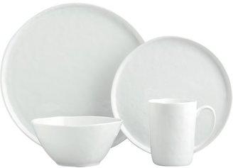Crate & Barrel Set of eight mercer dinner plates.