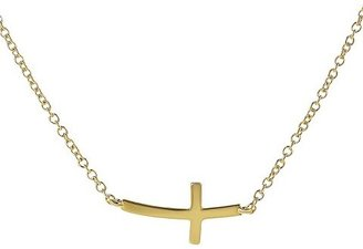 Journee Collection Sterling Silver Cross Necklace - Gold