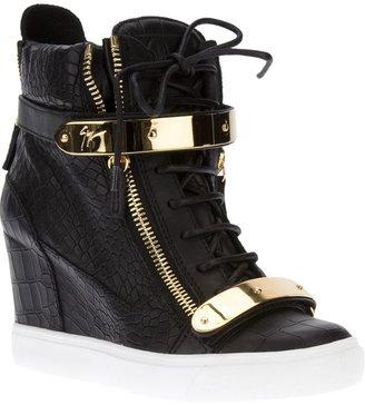 Giuseppe Zanotti Design wedge heel hi-top sneakers