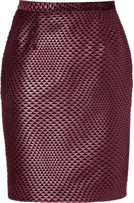 Marios Schwab Pencil Skirt in Port