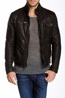 Cole Haan Washed Genuine Leather Moto Jacket $700 thestylecure.com