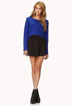 Forever 21 Bold High-Low Cropped Sweater