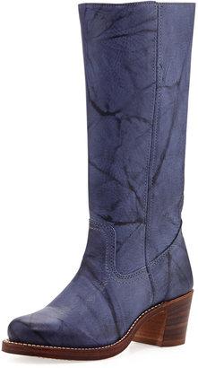 Frye Sabrina Pebble Leather Boot, Sapphire