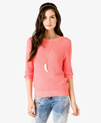 Forever 21 Waffle Knit Sweater