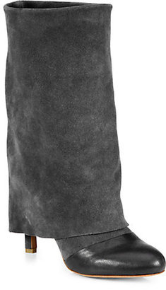 See by Chloe Suede & Leather Fold-Over Boots