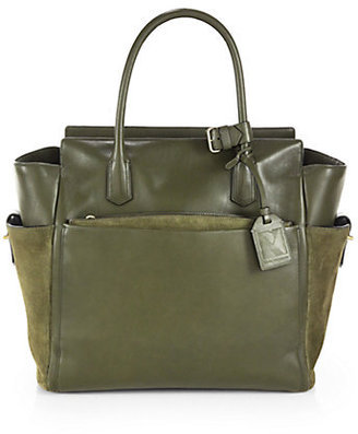 Reed Krakoff Atlantique Soft Leather & Suede Satchel