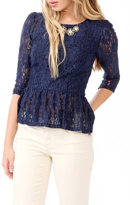 Forever 21 Lace Peplum Top