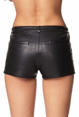 Forever 21 Studded Faux Leather Shorts