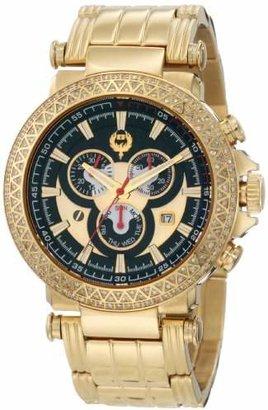 Brillier Men's 11-01 Swiss-Quartz Diamond Chronograph Watch