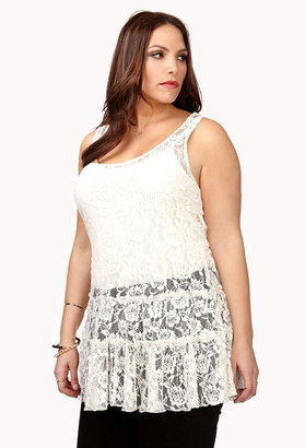 Forever 21 FOREVER 21+ Boho Doll Lace Tunic
