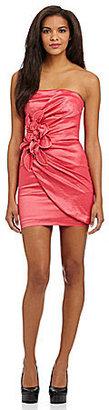Jessica McClintock Taffeta Flower Dress