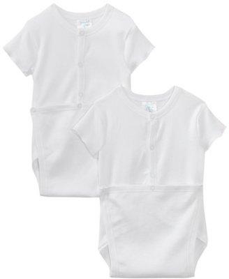 SpaSilk Unisex-baby Infant 2 Pack Wrap Bodysuit