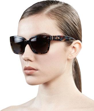 Prada Tortoise Rectangle Sunglasses, Havana Blue