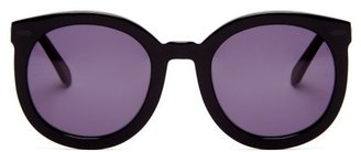 Karen Walker Super Duper Strength Acetate Sunglasses - Womens - Black