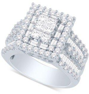Macy's Diamond Ring (3 ct. t.w.) in 14k Gold or White Gold