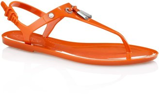 Tod's Jelly Thong Sandals With Front Leather Tie