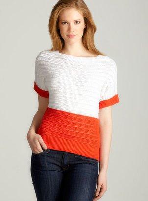 Andrea Jovine Dolman Sleeve Sweater, White