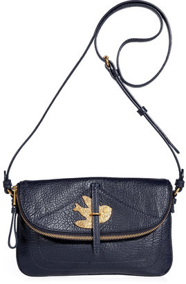 Marc by Marc Jacobs Darkest Teal Leather Percy Crossbody Bag
