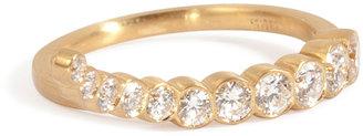 Sophie Bille Brahe 18kt Gold Escalier de Lune Ring with Diamonds