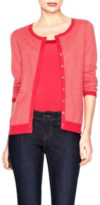 The Limited Mini-Stripe Cotton Cardigan