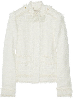 Lanvin Glass pearl-embellished bouclé-tweed jacket