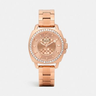 Rosegold Mini Boyfriend Plated Crystal Bracelet Watch