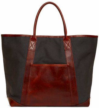 Brooks Brothers Canvas and Leather Tote