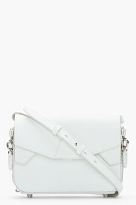 Alexander Wang Off-White Rubberized Leather Glow-in-the-dark LYdia Shoulder bag