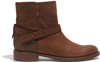 Madewell The Biker Boot in Distressed Leather