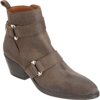 Sartore Distressed Double Strap Ankle Boot