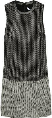 Diane von Furstenberg Aida pleated tweed dress
