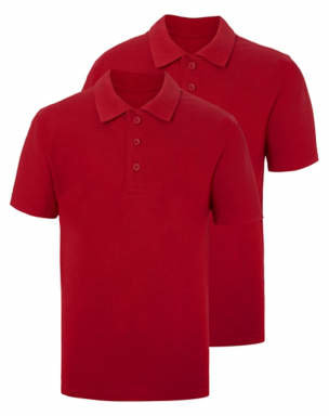 George Red School Polo Shirt 2 Pack