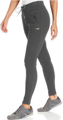 Calvin Klein Pants, Ribbed-Knit Active Leggings