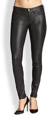 Current/Elliott Skinny Leather Ankle Pants