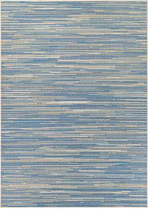 Couristan Monaco Indoor/Outdoor Alassio Sand-Azure-Turquoise 8'6