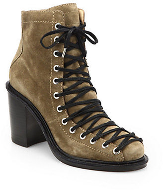 Elizabeth and James Terri Suede Lace-Up Ankle Boots