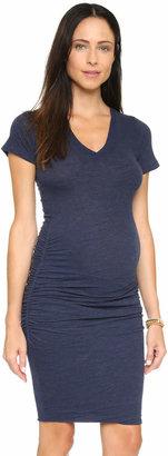 MONROW Maternity Shirred Tee Dress $120 thestylecure.com