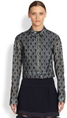 Stella McCartney Lace Cropped Utility Jacket