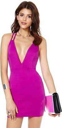 Nasty Gal Deep Trouble Dress - Orchid